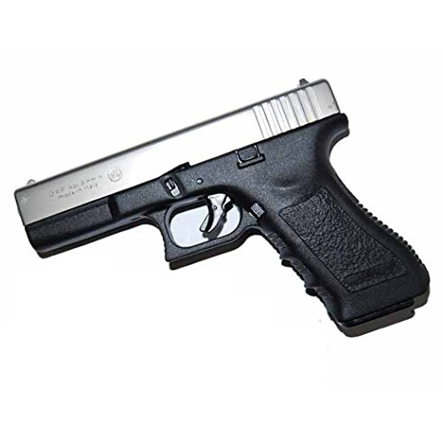BRUNI PISTOLA A SALVE IN METALLO GLOCK G17 8 MM NERA/NICHEL