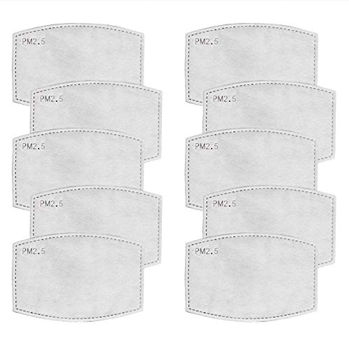 Safe+Mate Replacement Filters Ersatzfilter Mundschutz Maske PM2.5 Filter für Masken 10 Stück