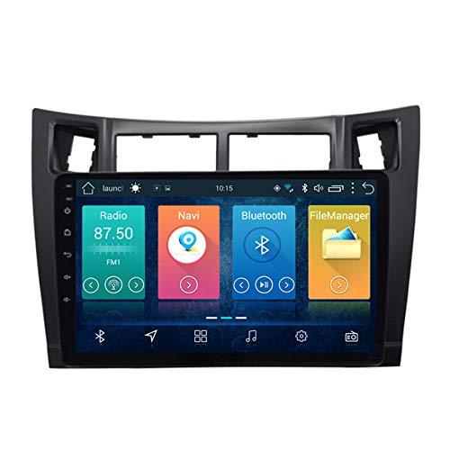 9,0 Zoll Android 8,1 Autoradio mit Navi GPS 2 Din Car Stero Mirrorlink Bluetooth WiFi Lenkradsteuerung Tuning für Toyota Yaris 2008-2011,8 cores 4g+WiFi:2+32g