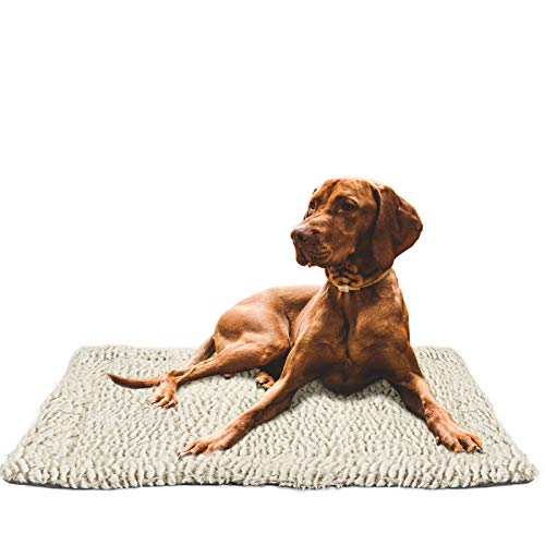 voopet Dog Bed Mat Pet Blanket Soft Fleece Summer Pet Bed Cover for Dogs and Cats - Pet Bed Liner Reversible Dog Crate Pad Machine Wash & Dry, Soft Plush Pet Cushion Ideal for Pet Carrier Cage