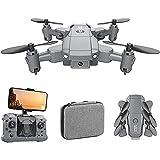 Deformation toy Mini Drone plegable ultraligero, con 4K HD Cámara aérea DRONE 30 minutos Tiempo de vuelo de 2 minutos, incluidas 2 baterías, Quadcopter plegable de una sola llave WiFi FPV RC Helicópte