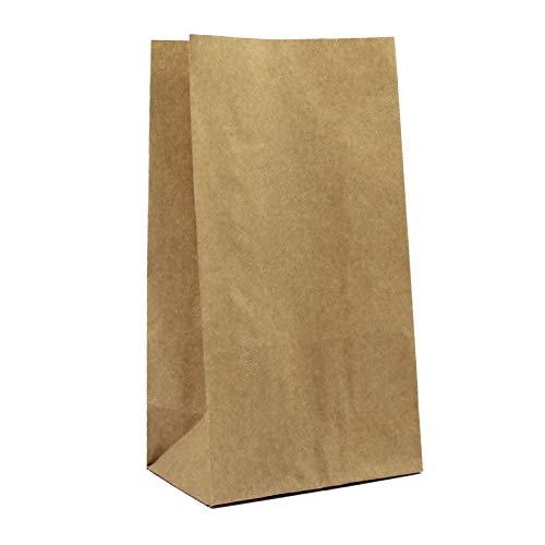 100er Pack Papiertüten aus Kraftpapier braun Größe L Blockbeutel Bodenbeutel Geschenktüte