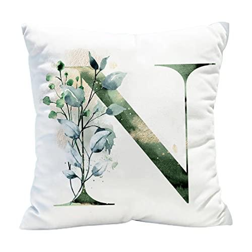 Funda de almohada decorativa para el hogar, con estampado de letras, para sofá, sala de estar, dormitorio, funda de cojín decorativa, 14