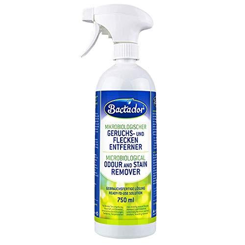 Quiko bactador Spray 750ml | Eliminador de olores y–Quitamanchas | biológico gischer Limpiador | Uso fertige Solución