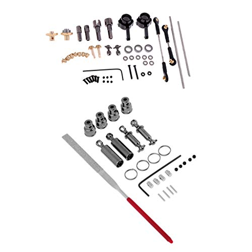FLAMEER Set Accessoire Metal OP et Arbre de Transmission pour WPL 1/16 RC Voiture Pick-up Camion Militaire