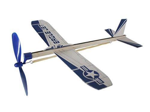 CAL FUSTER - Avión Planeador de Madera con hélice a Cuerda. Medidas: 30x30 cm.