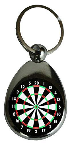 Schlüsselanhänger Dart, DARTSCHEIBE, 9 Darter, Hobby | Geschenk Glücksbringer Geburtstaggeschenk Metall (Dartscheibe)