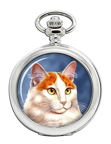 Türkisch Van Katze Full Hunter Taschenuhr
