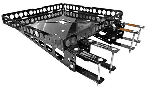 Mount-n-Lock GennyGo RevX Heavy Duty RV Bumper-Mounted Generator & Cargo Carrier Tray Kit (Steel)