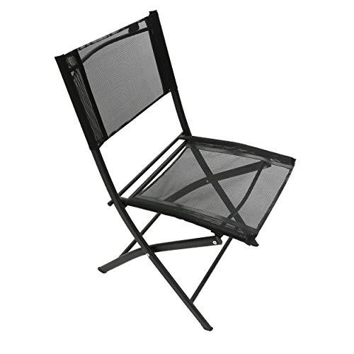 Homecall Garden camping folding chair black textilene