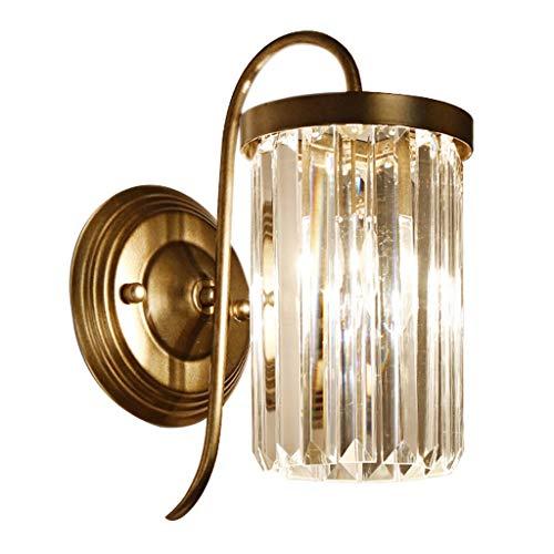 LZL Apliques de Pared Pared del Fondo salón Espejo cabecera del Dormitorio lámpara de Pared Faro Escalera de Cristal Pasillo Pasillo único Cabezal de Cama Faro lámpara de Pared (Color : Metallic)