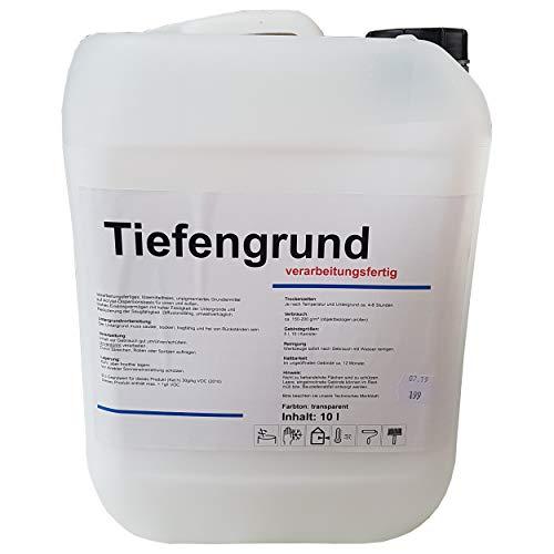 Tiefengrund 10 L LF verarbeitungsfertig Tiefgrund Grundierung Aufbrennsperre