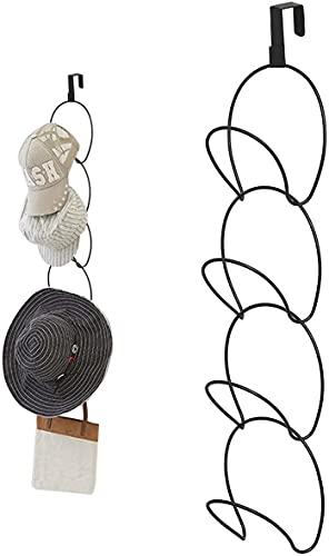 Yoassi Cap Halter, Einstellbare Huthalter Abnehmbar Schrank Ordnungssystem für Caps Hüte Schals Handtaschen, Platzsparende Kappensammelung ohne Bohren für Tür, Kleiderschrank, Wand, Badezimmer