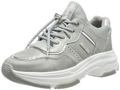 Dockers by Gerli Women's Low-Top Sneakers, Silver Silber 550, 10