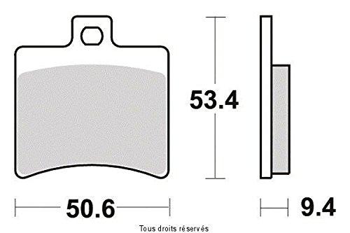 BREMSBELAGE GESINTERTES METALL TGB BELLAVITA 125 I 4T 2012-2012 HINTER ( SIFAM-SIF)