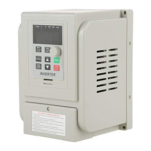 Variador de frecuencia, CA 220V 1.5KW Variador de frecuencia Variador VFD Controlador de inversor de velocidad para motor trifásico 1.5KW, 220V