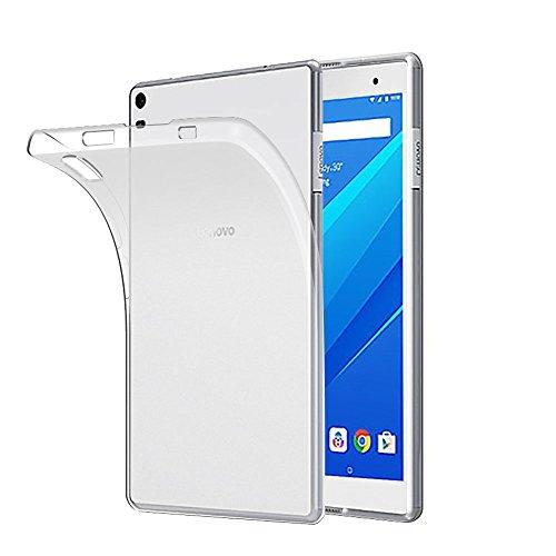 Gosento Hülle TPU Hülle für Lenovo Tab4 8 Plus, Soft Premium Flex Silikon Crystal Backcover Ultra Dünn Clear Schutzhülle Tablet Cover für Lenovo Tab 4 8 Plus (Matt weiß )EINWEG