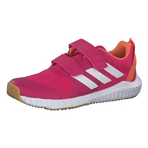 adidas Unisex-Child Fortagym Cf K Indoor Court Shoe, Real Magenta/Cloud White/Semi Coral, 29 EU