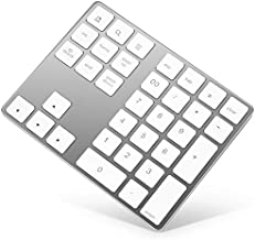 Bluetooth Numeric Keypad, Rechargeable Aluminum 34-Key Number Pad SlimExternal Numpad Keyboard Data Entry Compatible for MacBook, MacBook Air/Pro, iMac Windows Laptop Surface Pro etc