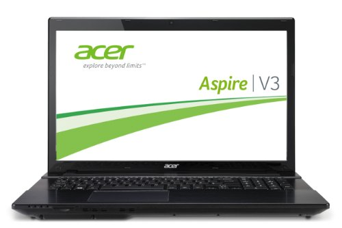 Acer Aspire V3-772G-747a8G75Makk 43,9 cm (17,3 Zoll) Notebook (Intel Core i7 4702MQ, 2,2GHz, 8GB RAM, 750GB HDD, NVIDIA GT 750M, DVD, Win 8) schwarz