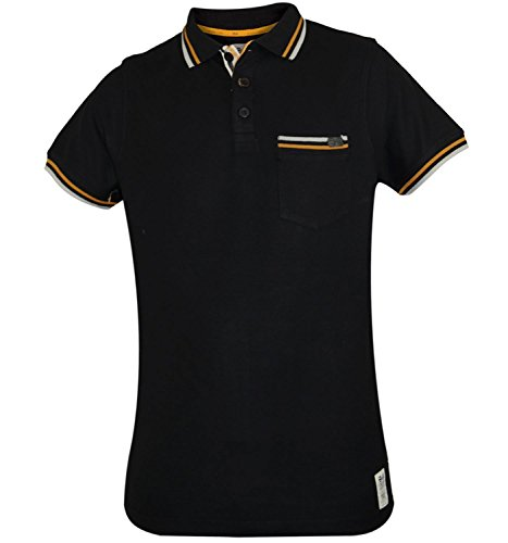 Fashion-T-Shirt à manches courtes imprimé Youle été Polo-Homme-Noir-S