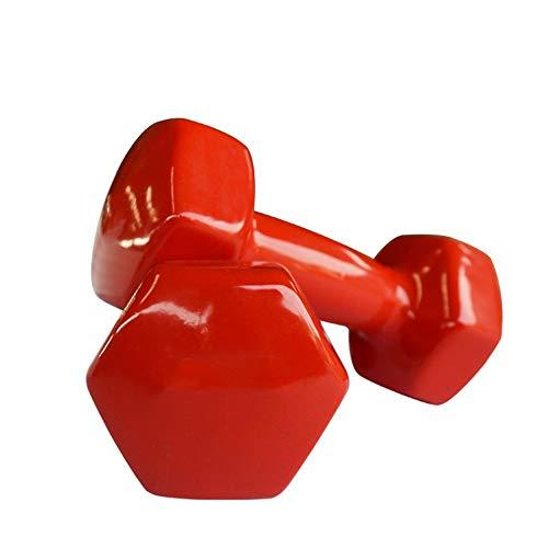 NEHARO El Ejercicio Pesas de Formación para los Brazos y Hexagonal Antideslizante de plástico con Mancuernas Ladies Home Fitness Yoga de la Aptitud 2KG El Ejercicio de la Aptitud