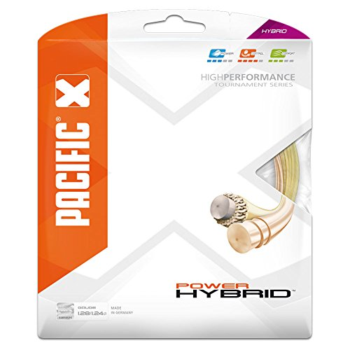 pacific Tennissaite Power Hybrid - 6.50mx6.50m-Garnitur, natur/ light-orange, 1.28/1.24mm, PC-2346.00.00