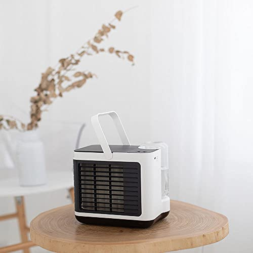 Negativ jon luftkonditionering fläkt skrivbord top vatten kylning skrivbord fläkt laddning bärbar kylfläkt-Vit