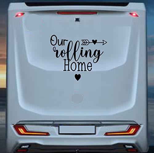 klebenswichtig Our Rolling Home - Adhesivo de vinilo para autocaravanas (tamaño XL, 80 cm de ancho, autocaravanas, autocaravanas, autocaravanas, autocaravanas)