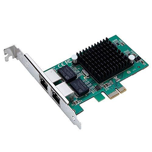Duradero For el escritorio PC TXA020-PCI-82575-1X PCI Express Dual Port Gigabit Red Tarjeta NIC Server Intel 82575 10/100 / 1000Mbps PCI-E X1 X4 X16 Red Adaptador de LAN Adaptador Fácil de montar