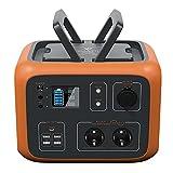 PowerOak Bluetti AC50S 500Wh Generador Solar Portátil con Inversor de 300W y Salidas AC/DC/USB, Generador Electrico Solar Power Station con Batería de Litio para Camping y Autocaravana