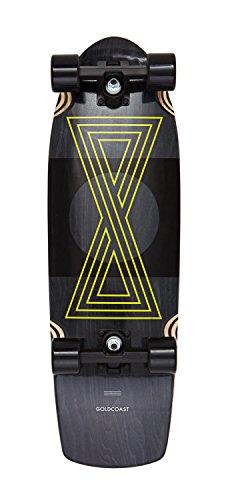 Gold Coast Infinitas DropTrough Complete Skateboard, Black, 40 inch