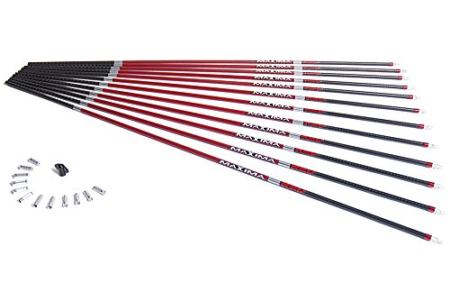 Carbon Express Maxima RED Carbon Arrow Shaft with Dynamic Spine Control, Size 350, 12-Pack