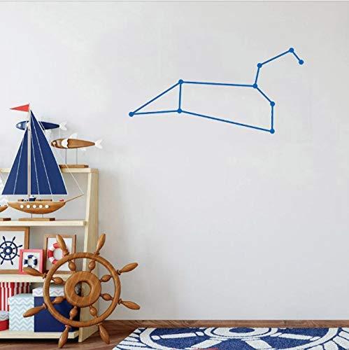 Leo Sterrenbeeld Muur Sticker Kunst Aan De Muur Hemelse Decals Kwekerij Muur Sticker Vinyl Decor Voor Baby Kamer Eenvoudige Leuke Grappige 29X57M