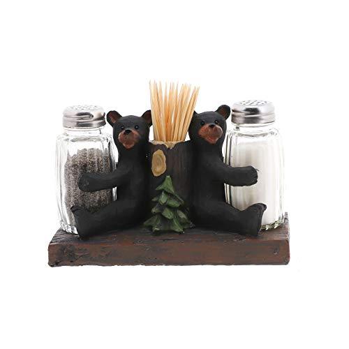 Bears Salz- und Pfefferstreuer mit Zahnstocherhalter