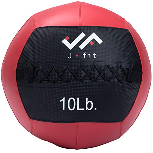 j/fit Wall Medicine Ball, Red/Black, 10 LB (20-0052)