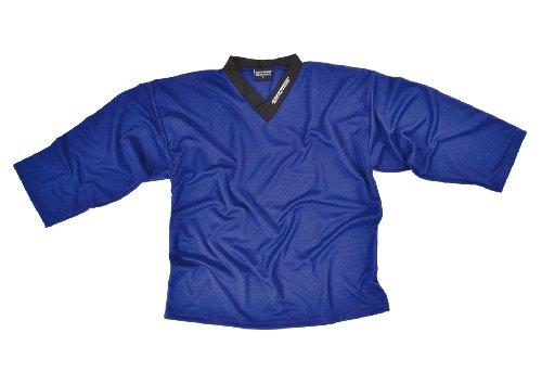 SHER-WOOD - Eishockey Trainingstrikot für Erwachsene I stilvolles Practice Jersey aus gelochtem, Blau, Gr. M