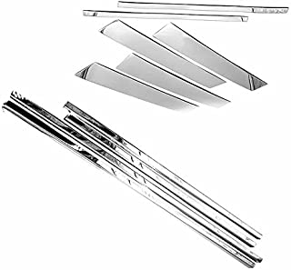 TX Racing Shipping from USA Combo Polished Stainless Steel Window Sills Moldings + 6pcs Pillar Post Trims for 2004-2015 Nissan Armada