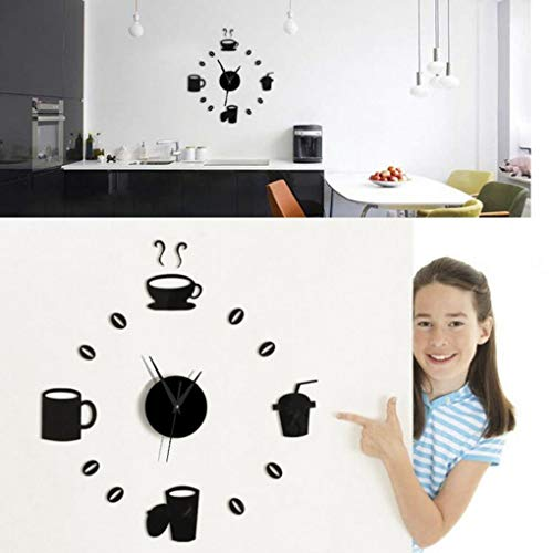 Honana DX-X3 Creatieve 3D Acryl Spiegel Muursticker Quartz Klokken Horloge Grote Huisdecoratie