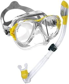 Cressi Italian Made Big Eyes Evolution Scuba Snorkeling Dive Mask, with Premium Dry Top Snorkel Set