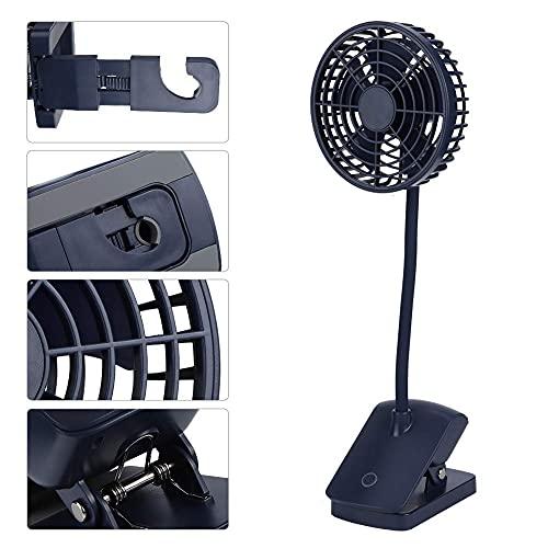 Mini ventilador de escritorio portátil con clip para coche de oficina (azul)