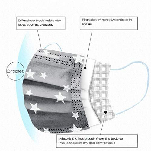 Keepwin 50 Stück Einweg 3 lagig Mund-Nasen-Schutz, Motiv Atmungsaktive Multifunktionstuch Bandana Halstuch Schals für Erwachsene und Kinder (G-50PC) - 2