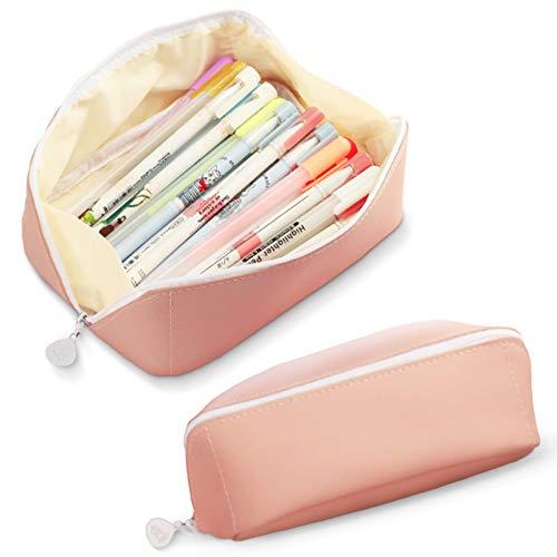 Crayon Case,Grande Capacité Crayons Trousse,PU Cuir...