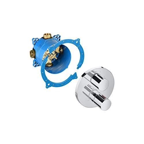 Roca Mezclador grifo termostático empotrable para baño o ducha, 25 x 40 x 3 centímetros, color azul (Referencia: AG0132600R)