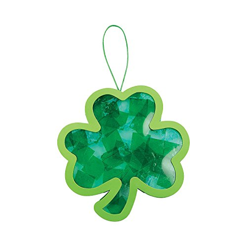 Tissue Paper and Acetate Shamrock Craft - Crafts for Kids and Fun Home Activities
