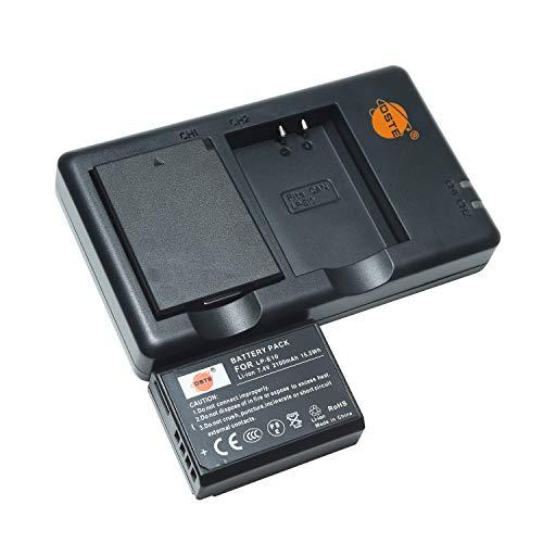LP-E10 - Batería recargable y cargador dual compatible con Canon EOS 1100D, 1200D, 1300D, 2000D, 4000D, Kiss X50, Kiss X70, Kiss X80, Rebel T3, T5, T6, T7, etc.