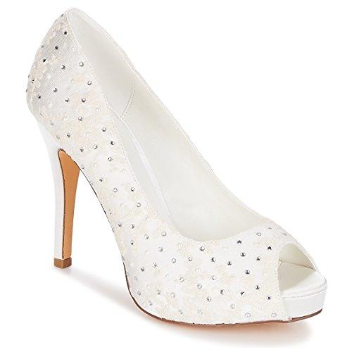 Menbur Alegria Sandalen/Sandaletten Damen Elfenbein - 36 - Sandalen/Sandaletten Shoes