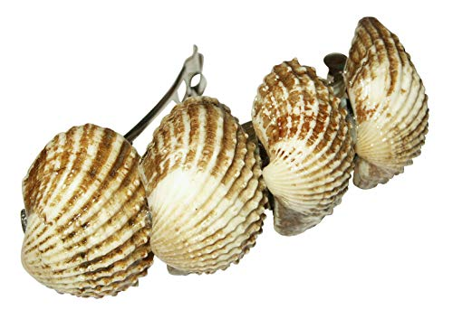 Weisse Muscheln, maritime Geschenkidee - Muschel Haarspange - Haarklammern für Fasching und Karneval, Haarschmuck, Meer, Crazy Clips Collection