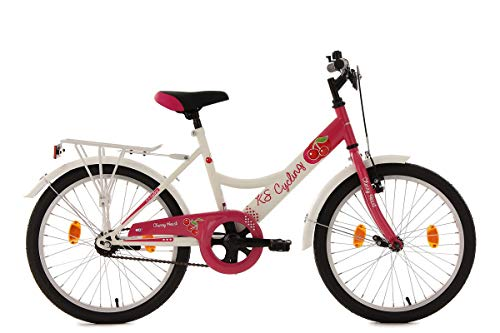 KS Cycling Kinderfahrrad 20\'\' Cherry Heart weiß-pink RH 36 cm