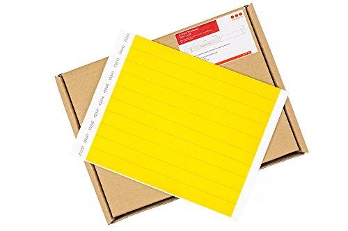 Cintapunto® - 1000 Stück Packung - Tyvek Eintrittsbänder, Tyvek Bänder, Tyvek Festival Armbänder, Tyvek Armbänder, Tyvek Kontrollbänder, Tyvek Wristbands (Neon Yellow)